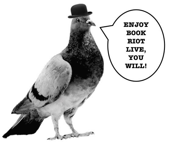 "Reginald says, ""Enjoy Book Riot Live, you will!"""