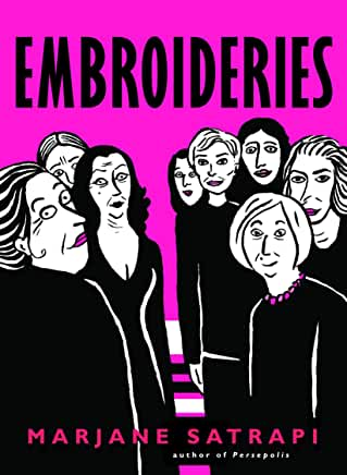 cover image of embroideries by Marjane Satrapi