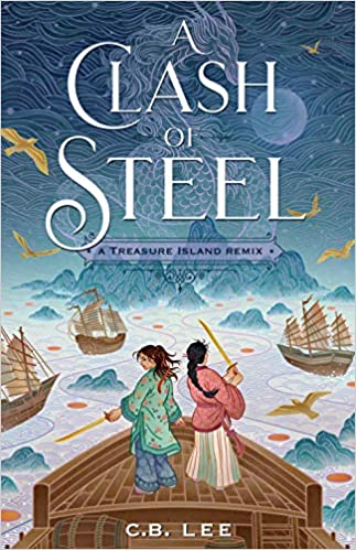 cover of a clash of steel by c.b. lee