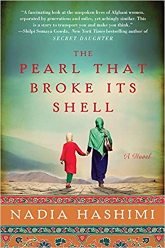 cover of The Pearl That Broke Its Shell by Nadia Hashimi showing an Afghan woman holding a child's hand
