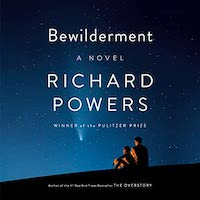 A graphic of the cover of Bewilderment by Richard Powers