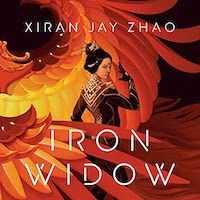 A graphic of the cover of Iron Widow by Xiran Jay Zhao