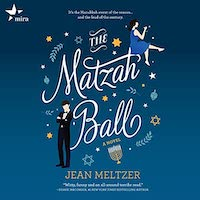 A graphic of the cover of The Matzah Ball by Jean Meltzer