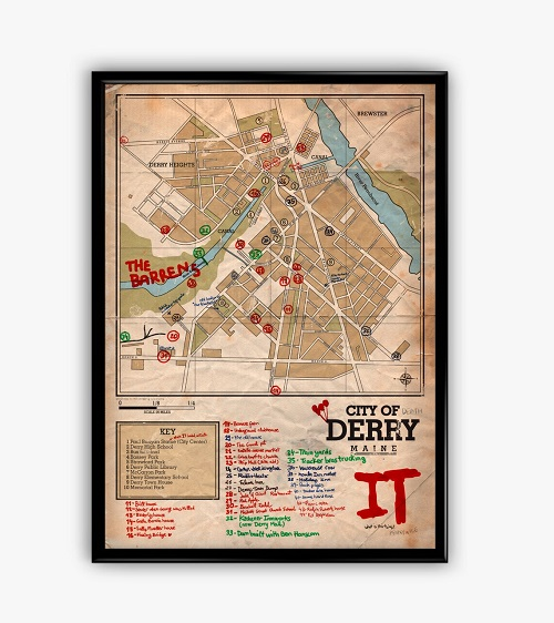 Wall Print of Derry from Stephen King's It