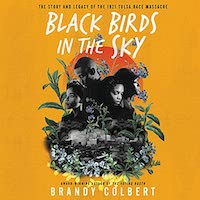 A graphic of the cover of Black Birds in the Sky