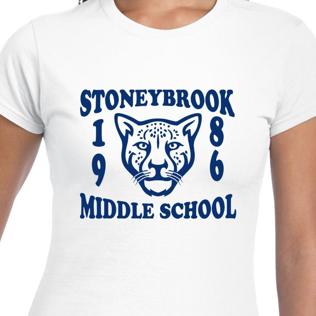 Image of a Stoneybrook Middle School t-shirt.